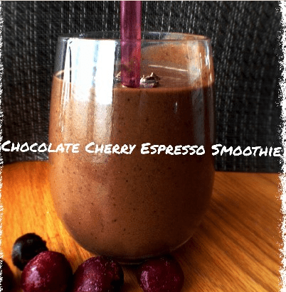 Chocolate Cherry Espresso Smoothie