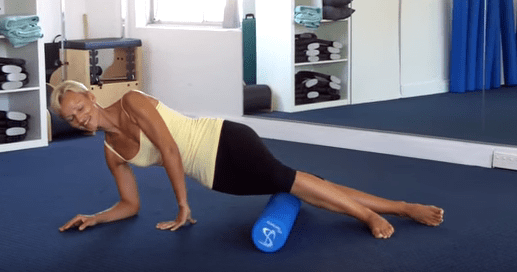 Foam roller stretch for the IT Band