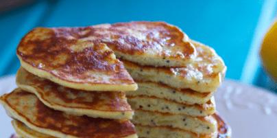 Lemon Poppyseed Protein Pancakes